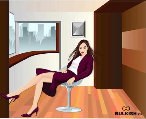 Бизнес-окружение - векторный клипарт